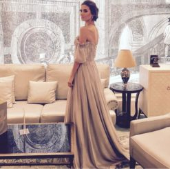 Özel Tasarım Kiralık Gri Elbise