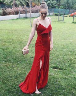 Fame and Partners Kırmızı Kiralık Elbise