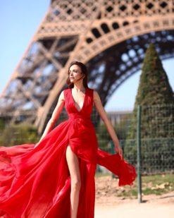 Züleyha Kuru Kiralık Kırmızı Elbise