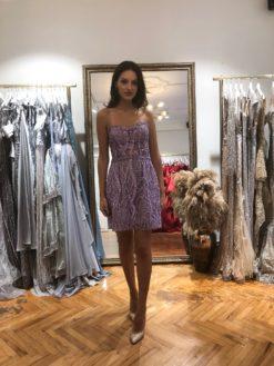 Özel Tasarım Lila Kiralık Elbise Modeli