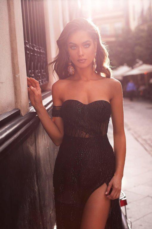 Ayelet Siyah Kiralık Elbise Modelleri
