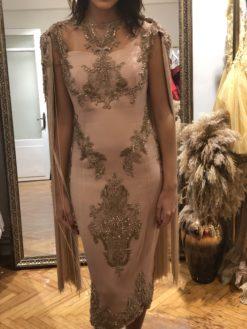 Özel Tasarım Pudra Rengi Elbise Kiralama